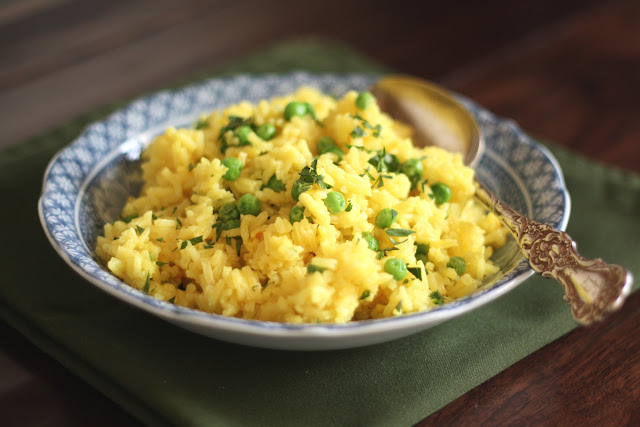 Turmeric Butter Rice recipe by Barefeet In The Kitchen