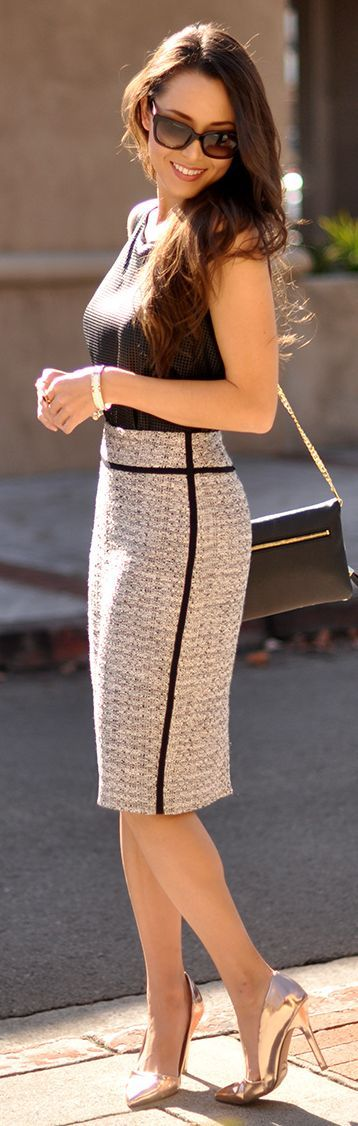 Perfect business lady Pencil skirt