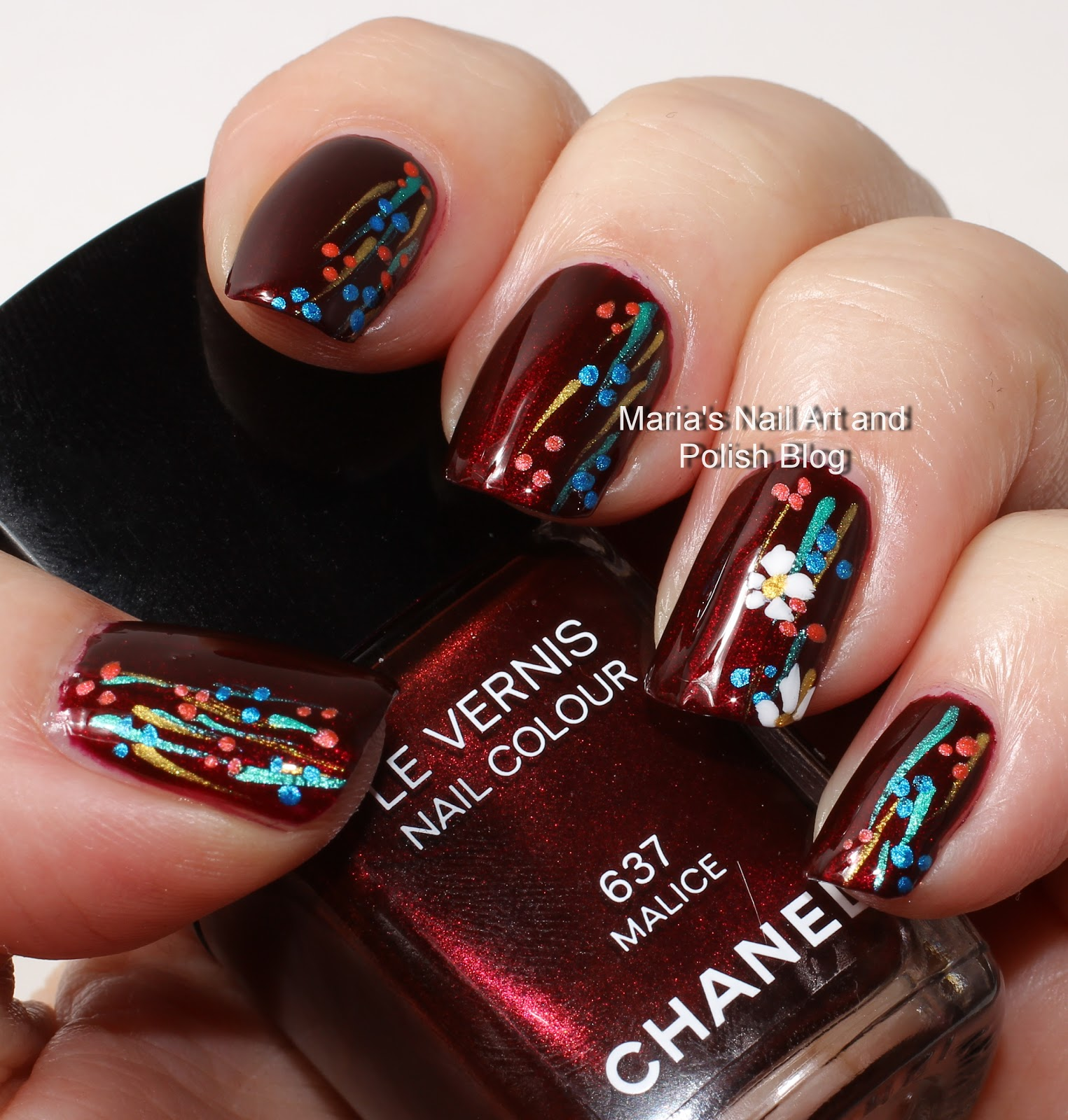 Marias Nail Art And Polish Blog Flushed With Stripes And: Marias Nail Art And Polish Blog: Malice Nail Art