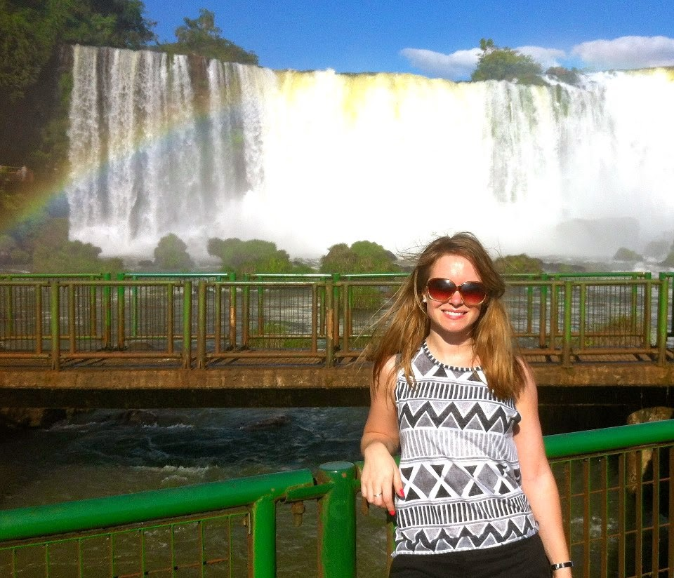 Enjoying the views at Iguazu Falls