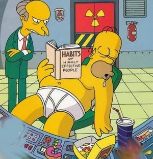 Homer Simpson at work in sector 7G