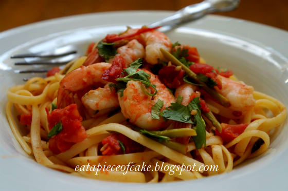Piece of Cake: Shrimp Pasta in a Foil Package
