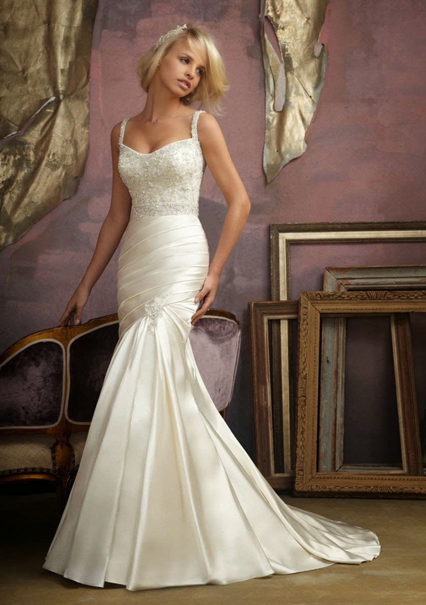 Modern White Mermaid Style Wedding Dresses Ideas Photos HD