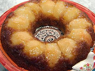 Torta de peras invertida facil
