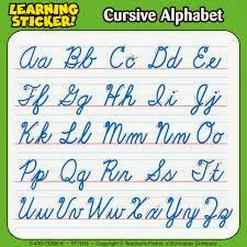 cursive writing instruction