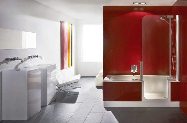 wall color for white bathroom