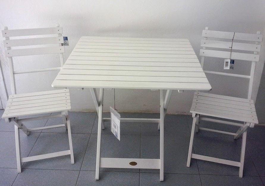Casa jard n campo y playa conjunto mesa y sillas madera for Mesas y sillas blancas de madera