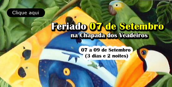 Feriado 7 de Setembro na Chapada dos Veadeiros