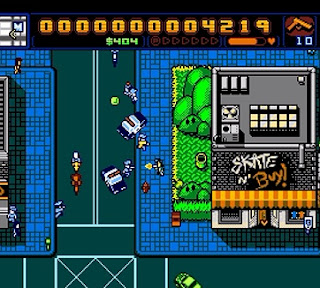 Screenshot of WiiWare game Retro City Rampage