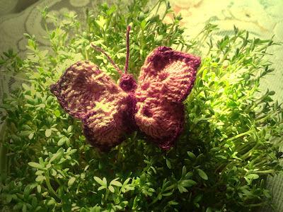 motyl kordonek szydełkiem