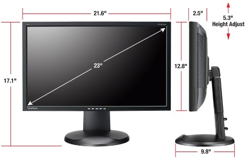 ViewSonic VP2365wb LCD IPS Monitor Side