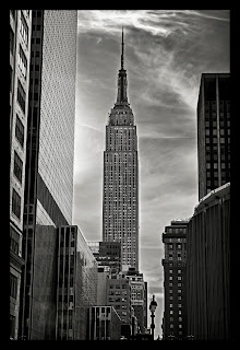 Black and white fine art photograph of the Empire State Building in New York City