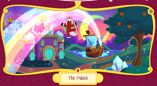 Screencap of The Palace part of the Filly world toy site.