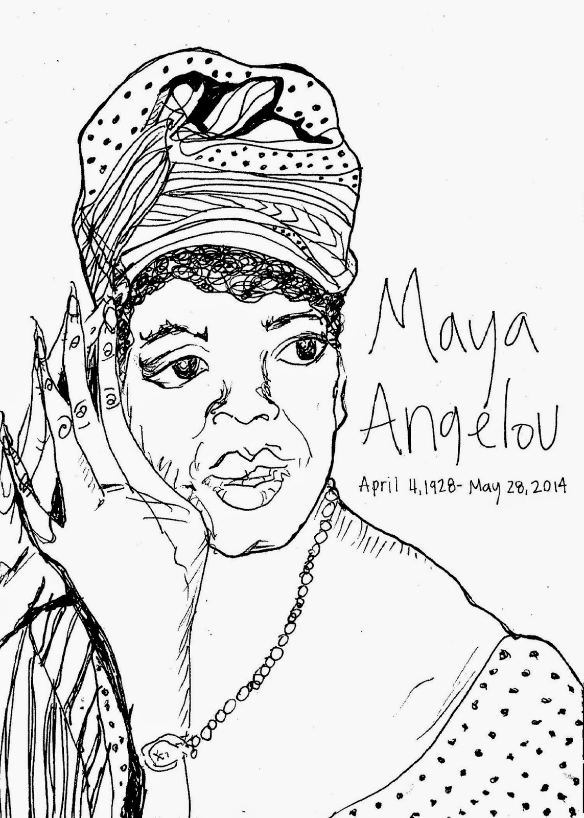 Maya Angelou Coloring Pictures