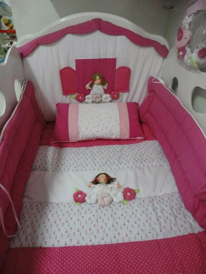 Brenda salas taller artesanal acolchado chichoneras con apliques 2 - Cuna de mimbre para bebe ...