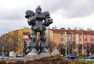 Zaku statue in Turkey