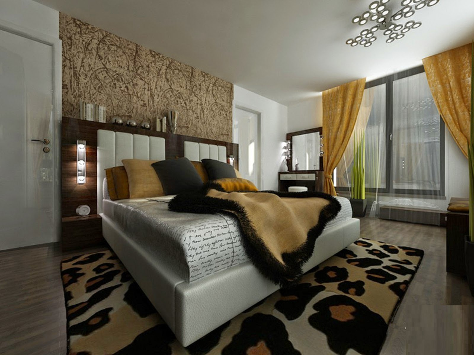Dynamic views most beautiful bedroom interior designs for Designs of the interior