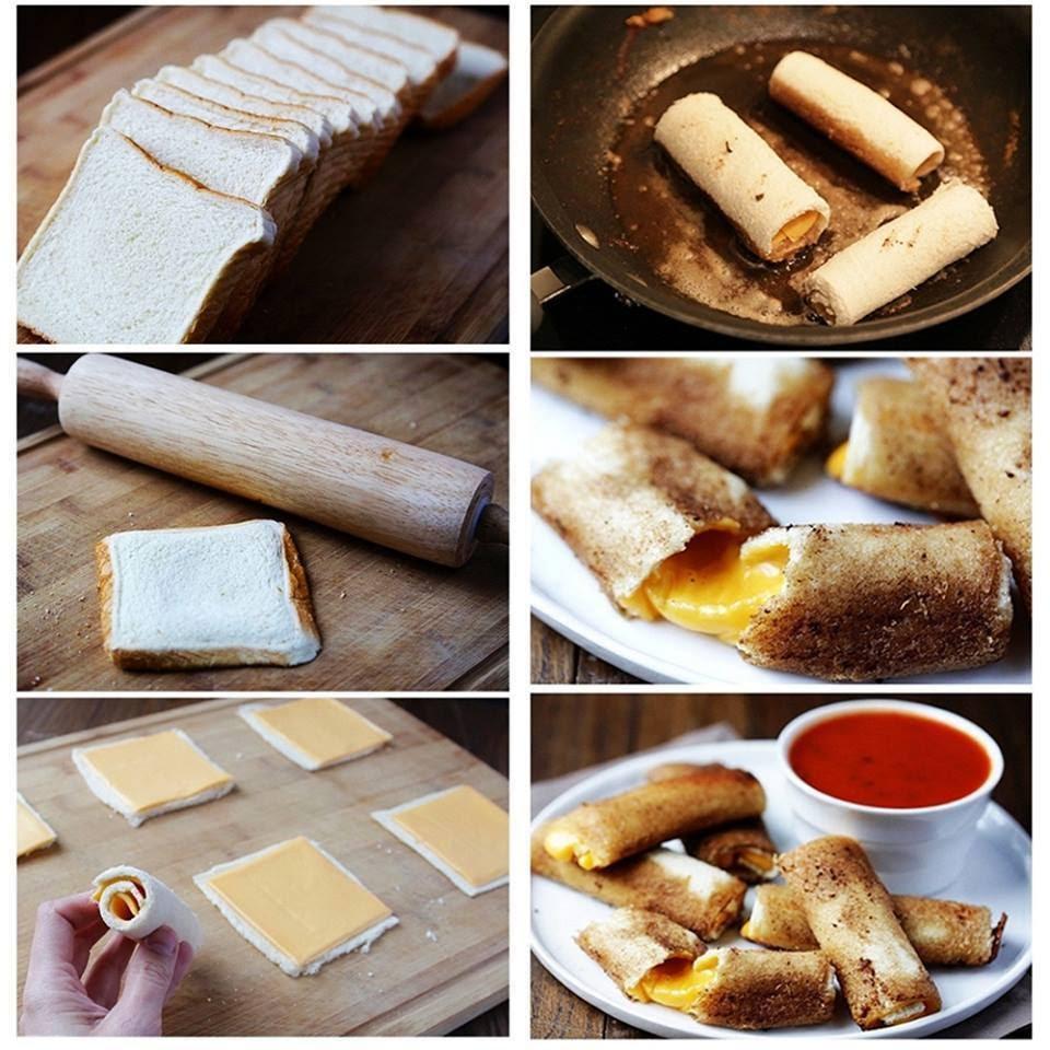 Exquisitos bocaditos de pan y queso