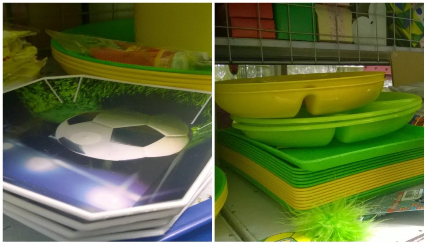pratinhos nas cores do Brasil (verde e amarelo) para Copa nas lojinhas de 1,99
