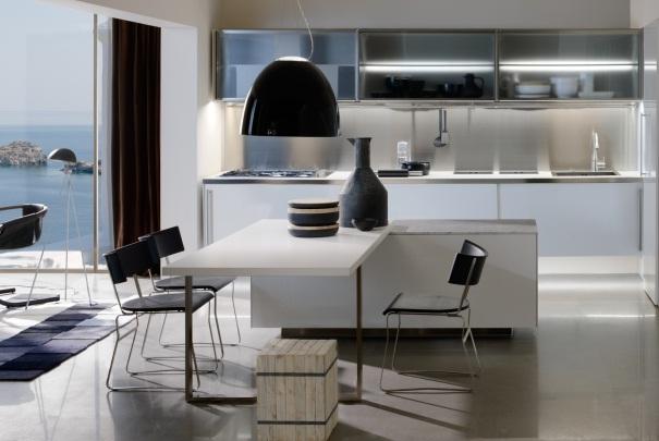Chambre Rose Poudre Et Blanc : Cuisine Ultra Moderne  cuisinedecoration style ultramoderne