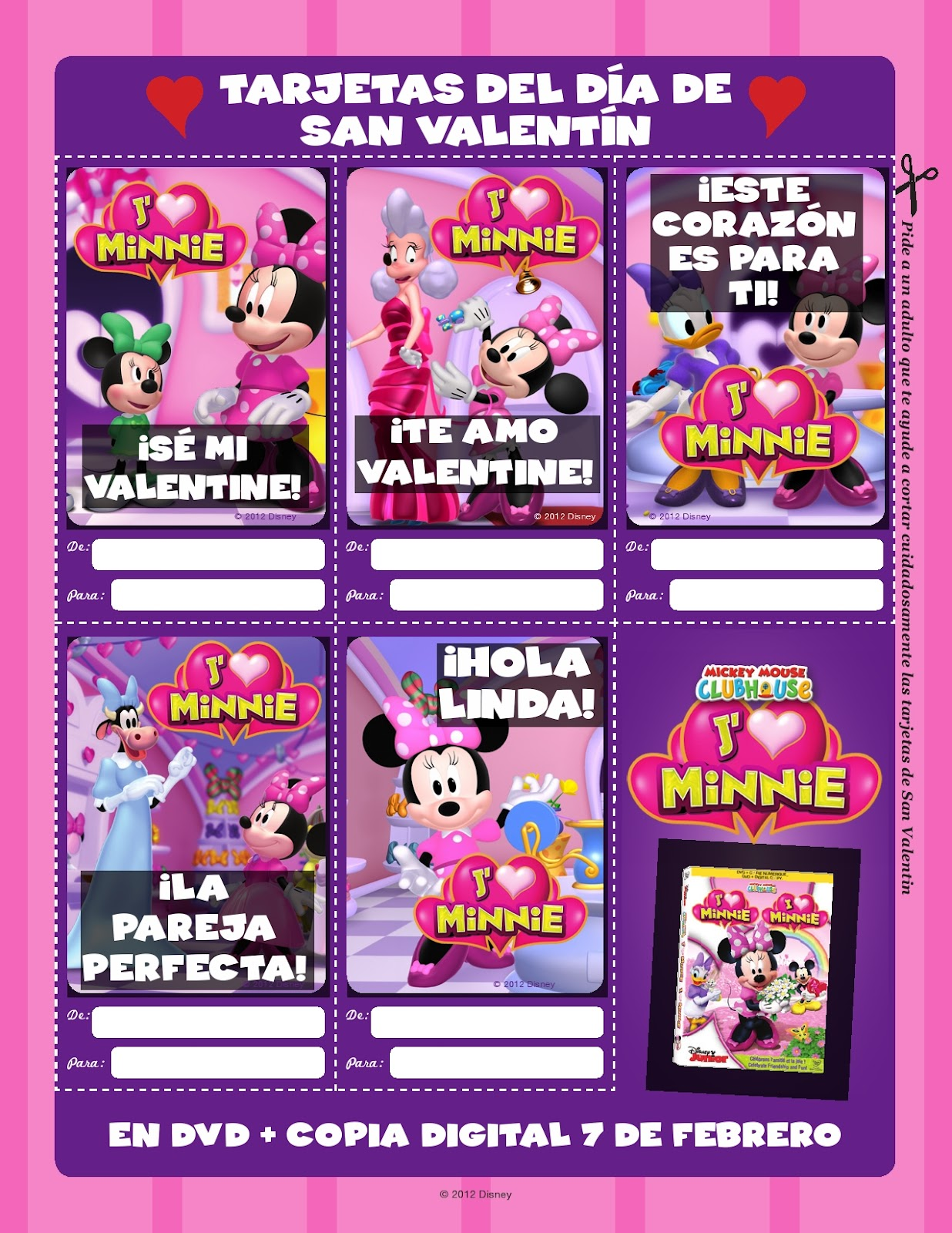 I Heart Minnie DVD and Digital Copy Release Mami of Multiples – Minnie Mouse Valentine Cards