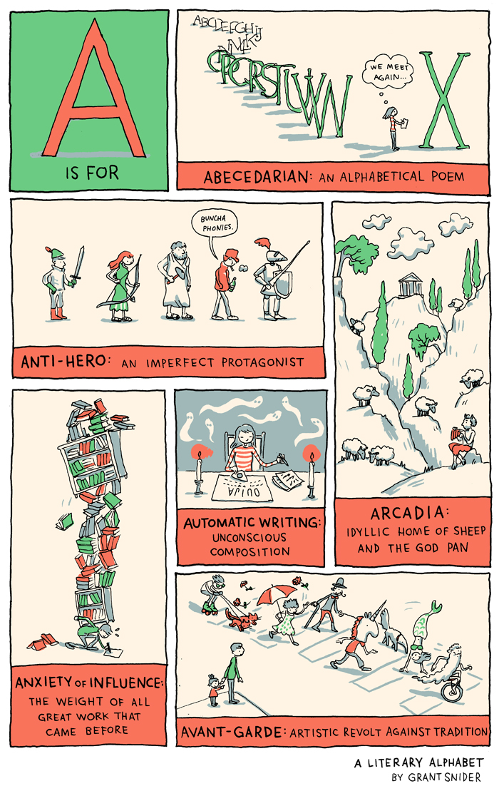 A is for Abecedarian: A Literary Alphabet from Grant Snider
