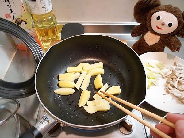 イカとジャガイモのキムチ炒め(4)