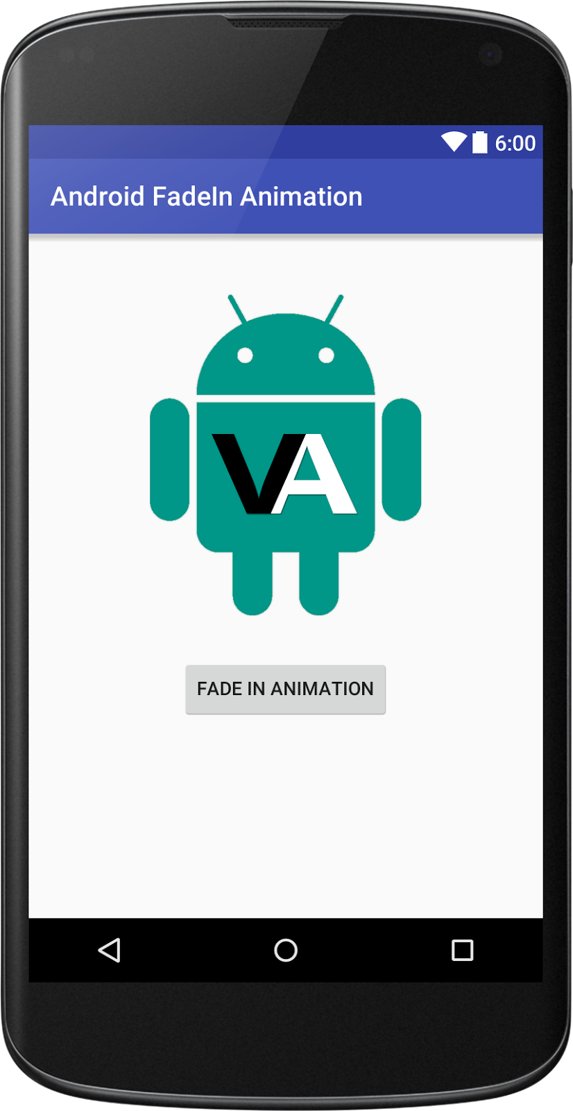 Fade In Animation Example in Android