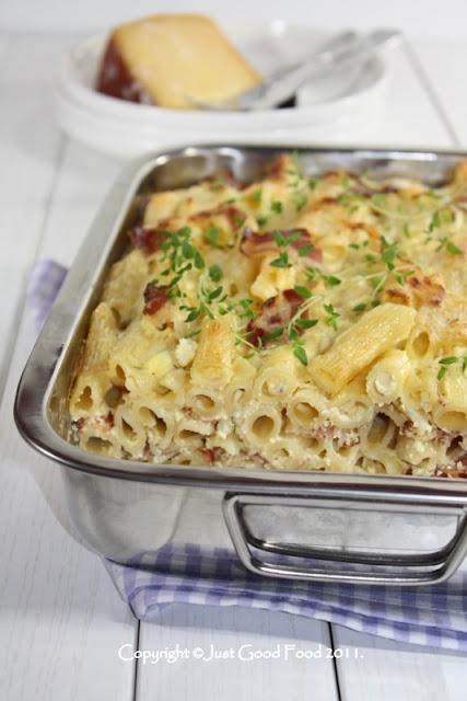Zapečena tjestenina s pancetom i sirom