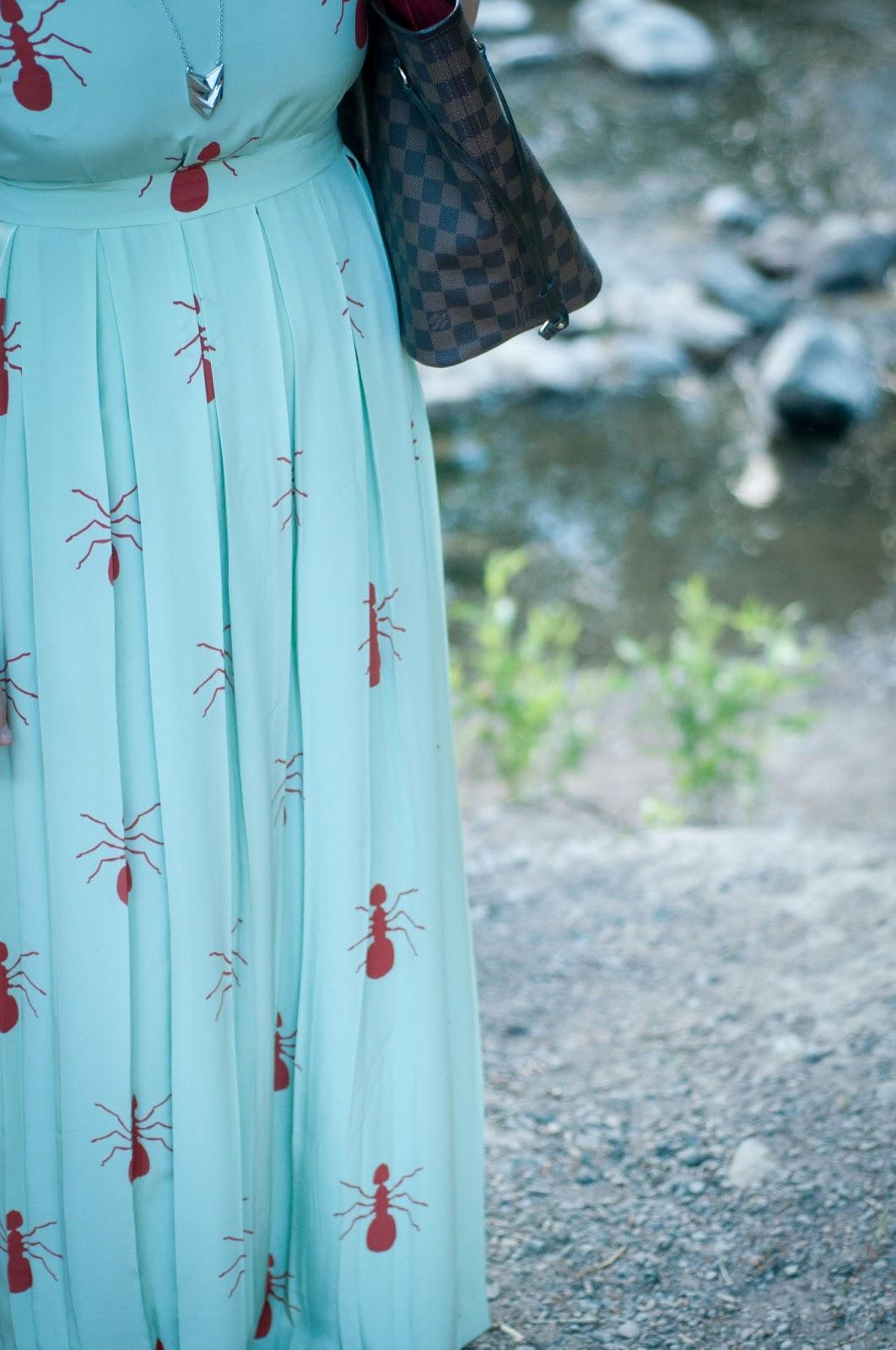 fashion blog, style blog, Rebecca minkoff necklace, louis vuitton, charlotte taylor dress, ant dress, mint