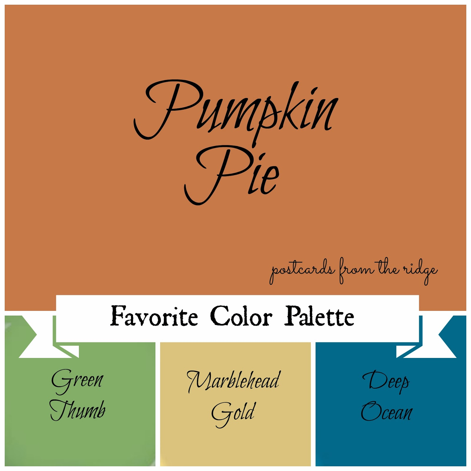 Pumpkin Orange Paint favorite paint color ~ fall edition - postcards from the ridge