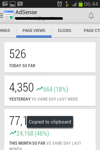 Page Views AdSense Mobile