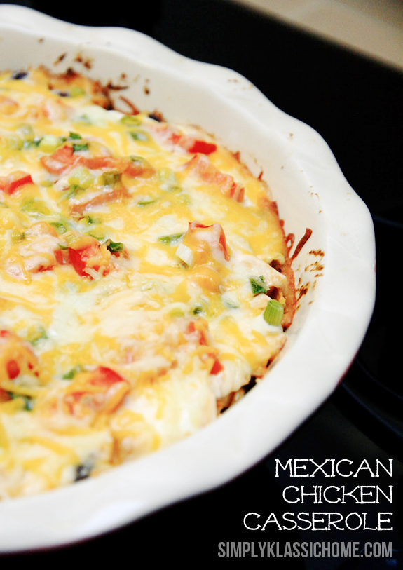 Mexican Chicken Casserole @ Simply Klassic
