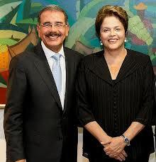 Dilma Russeff y Danilo Medina
