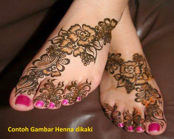 Gambar Henna Simple Kaki Makedes Com