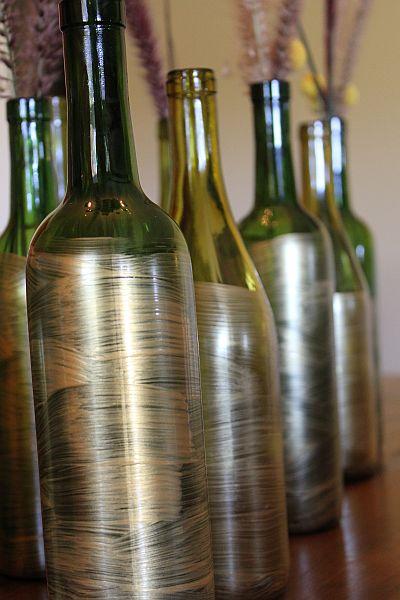 Brown bunny flowers fall wine bottle decoration for How to use wine bottles for decoration