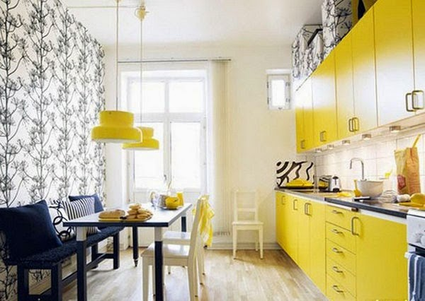 Amazing Design Yellow Kitchen