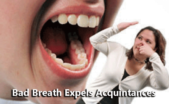 Bad Breath Expels Acquintances