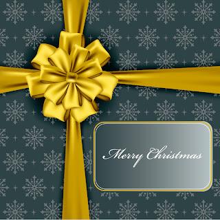 豪華なクリスマス プレゼントのパッケージ christmas gift box packaging vector イラスト素材3