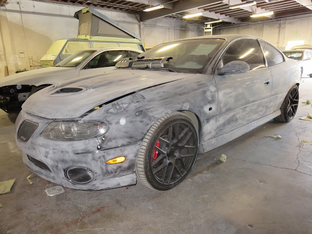 2005 Pontiac GTO during body repairs and paint at Almost Everything Auto Body