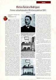 Matías Balsera, primer radioaficionado español