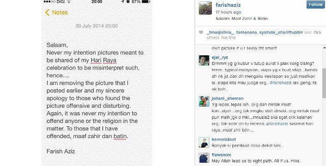 Isu Selfie Di Kubur, Farish Aziz Mohon Maaf Secara Terbuka
