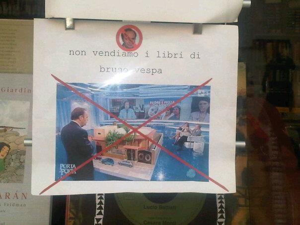Qui non vendiamo i libri di Bruno Vespa