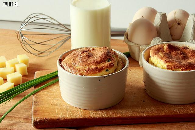 souffle, cheese souffle, suflet serowy, przystawka, przekąska, snack