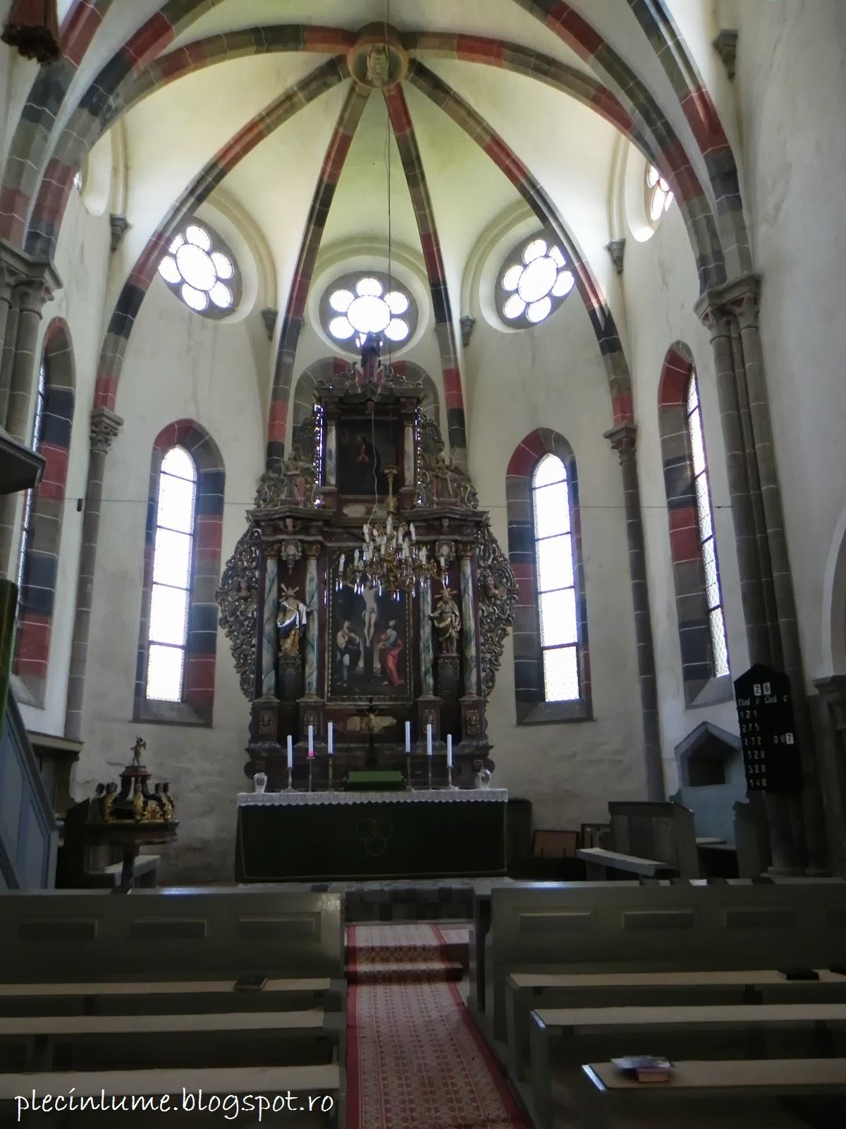 Biserica din Carta in interior
