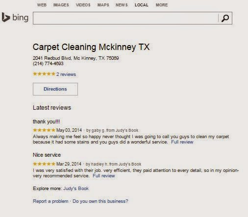 Mckinney Carpet Cleaning on Bing