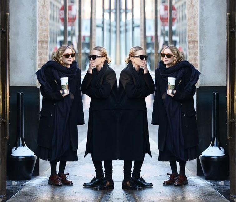 Olsen twins, Mary Kate and Ashley Olsen, street style