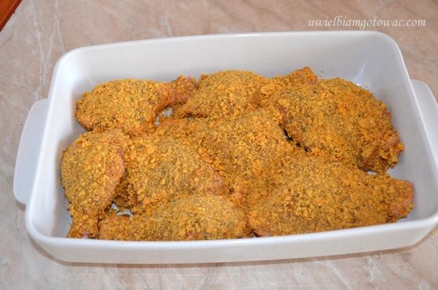 Kurczak pieczony w corn flakes