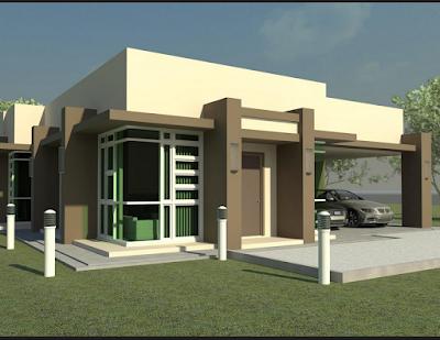 Desain Rumah Mewah Minimalis Modern 1 Lantai 4 Kamar