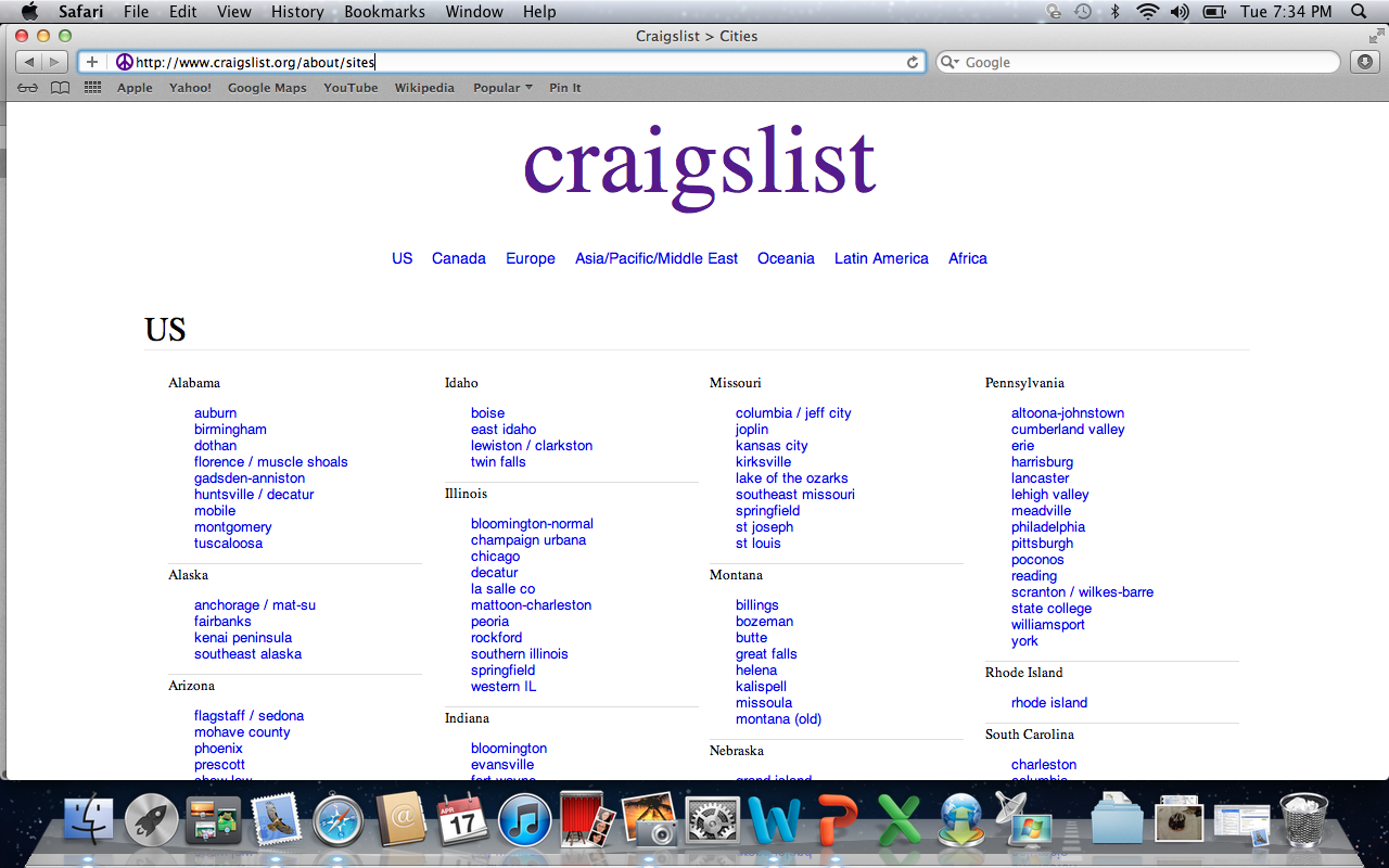 All of craigslist by state - For Those Of You Who Don T Know Craigslist Is Basically Like A Classified Ad System You Find Your State And Closest Major City And Then You Can Browse